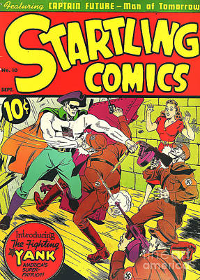 Classic Comic Book Cover - Startling Comics The Fighting Yank - 1236 Print by Wingsdomain Art and Photography