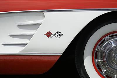 Red Cross Digital Art - Classic Corvette by Mike McGlothlen