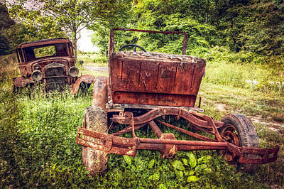 Old Country Roads Photograph - Classic Fords by Debra and Dave Vanderlaan