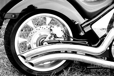 Classic Honda Detail Print by Christopher Edmunds
