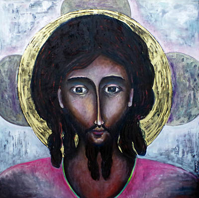 Classic Jesus Icon Original by Andrew Osta