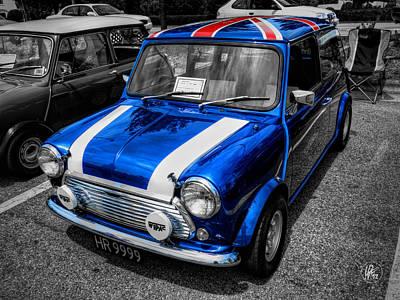 Classic Auto Photograph - Classic Mini Cooper by Lance Vaughn