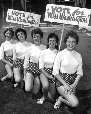 Classic Miss America Contest Print by Retro Images Archive
