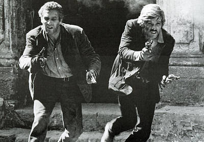 Classic Photo Of Butch Cassidy And The Sundance Kid Print by Georgia Fowler