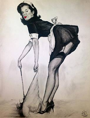 Figure Drawing - Classic Pinup 1 by Tim Brandt