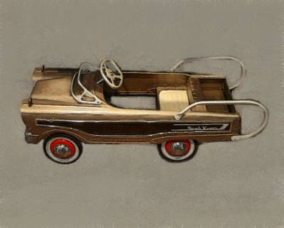 Childs Bedroom Art Digital Art - Classic Ranch Wagon Pedal Car by Michelle Calkins