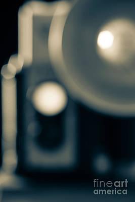 Classic Vintage Camera Blur Print by Edward Fielding
