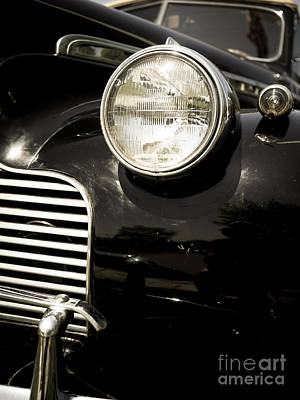 Lisbon Photograph - Classic Vintage Car Black And White by Edward Fielding