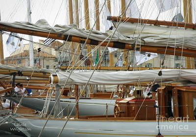St.tropez Photograph - Classic Wooden Sail Boats by Lainie Wrightson