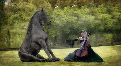 Horses In Art Photograph - Classical Baroque by Fran J Scott