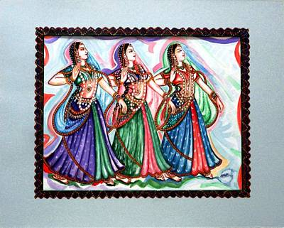Lady Painting - Classical Dance1 by Harsh Malik