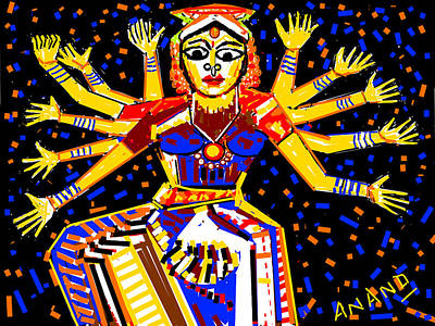 Classical Dancer Print by Anand Swaroop Manchiraju