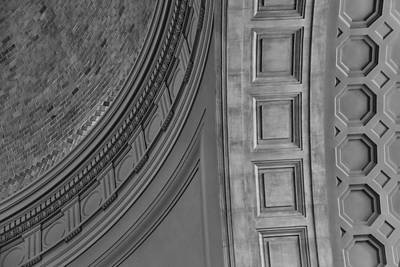 Classical Dome And Vault Detail Print by Lynn Palmer