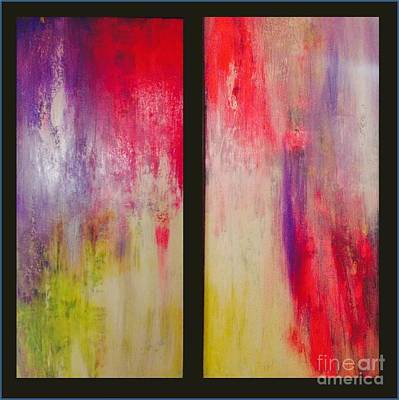 Tantra Painting - Classy And Sassy   Diptych by Bebe Brookman