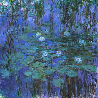 Claude Monet - Blue Water Lilies Print by Claude Monet