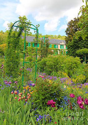 Claude Monet House And Garden At Giverny Print by Heidi Hermes