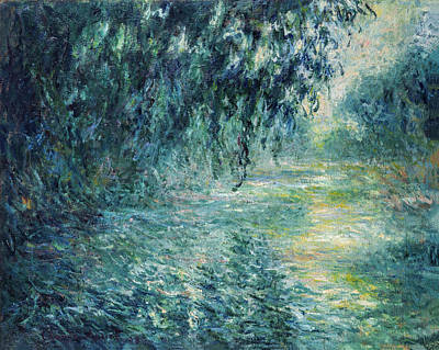 Claude Monet - Morning On The Seine Print by Claude Monet