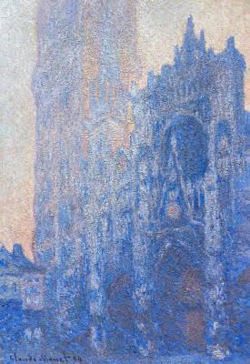 Claude Monet - Rouen Cathedral Facade Morning Effect Print by Claude Monet