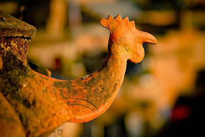 Ceramics Photograph - Clay Cockerel Bhaktapur by Raimond Klavins