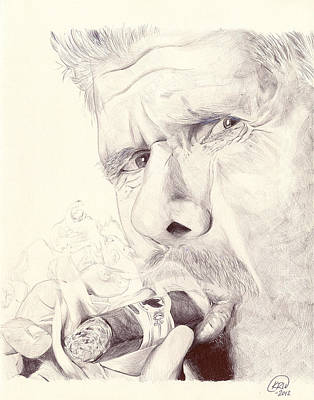Drawing - Clay Morrow by Kyle Willis