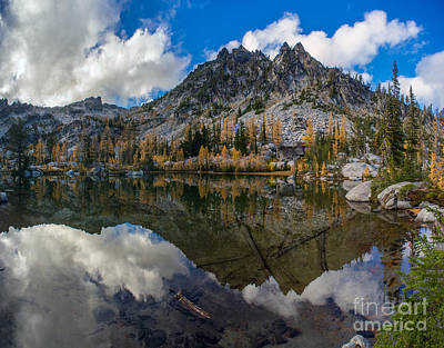 Clear Autumn Lakes Reflection Print by Mike Reid