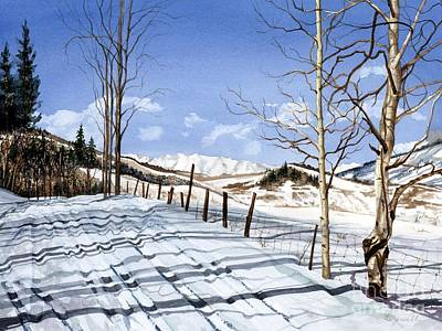 Cross-country Skiing Painting - Clear Blue Silence by Barbara Jewell
