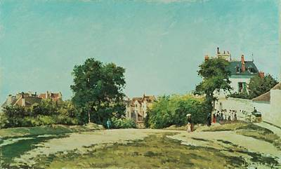 Lively Painting - Clearing Of The Old Cemetery In Pontoise by Camille Pissarro