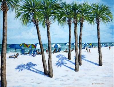 Florida Landscape Painting - Clearwater Beach Morning by Penny Birch-Williams