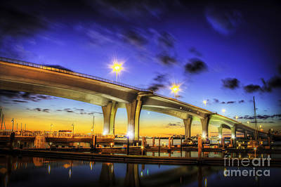 Fishermen Photograph - Clearwater Bridge by Marvin Spates