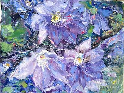 Clematis Painting - Clematis  by Vladimir Demidovich