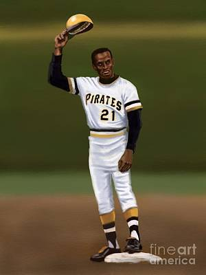 Roberto Clemente Digital Art - Clemente's 3000th Hit by Jeremy Nash