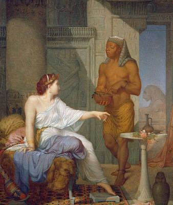 Cleopatra And Her Slave  Print by Henri Blaise Francois Dejussieu