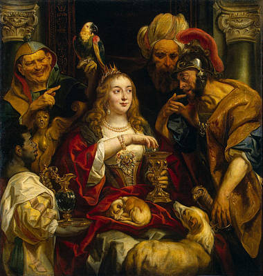Jacob Jordaens Painting - Cleopatras Feast by Jacob Jordaens