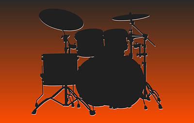 Cleveland Browns Drum Set Print by Joe Hamilton
