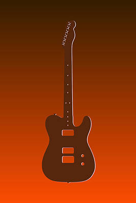 Guitar Photograph - Cleveland Browns Guitar by Joe Hamilton
