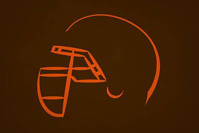Cleveland Browns Helmet Print by Joe Hamilton