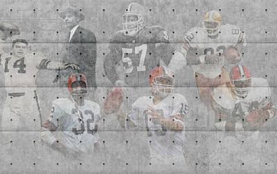 Nfl Photograph - Cleveland Browns Legends by Joe Hamilton
