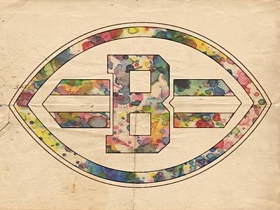 Cleveland Browns Logo Art Print by Florian Rodarte