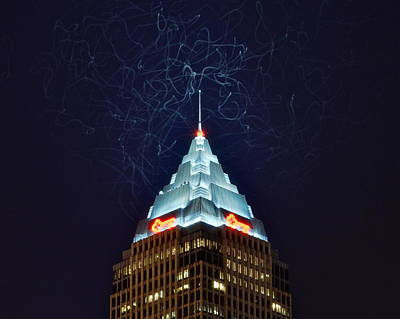 Optical Illusion Photograph - Cleveland Electrified by Frozen in Time Fine Art Photography