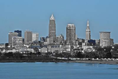 Black Commerce Photograph - Cleveland In Selective Color by Frozen in Time Fine Art Photography