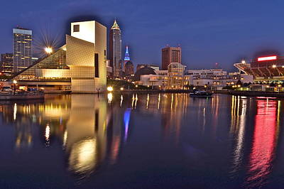 Cleveland Ohio Lakefront Print by Frozen in Time Fine Art Photography