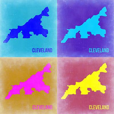 Cleveland Pop Art Map 2 Print by Naxart Studio