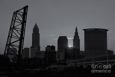 Cleveland Skyline At Sunrise II Print by Clarence Holmes