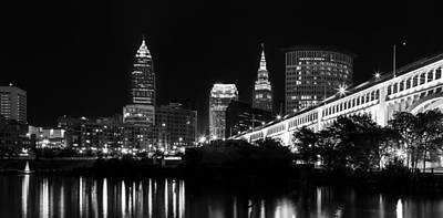 Ohio River Photograph - Cleveland Skyline by Dale Kincaid
