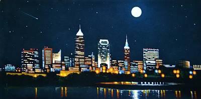 Cleveland Skyline Original by Thomas Kolendra