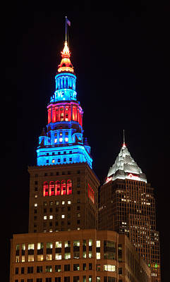 Ohio Photograph - Cleveland Towers by Dale Kincaid