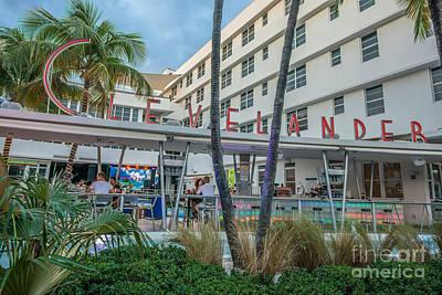 Clevelander Hotel Art Deco District Sobe Miami Florida Print by Ian Monk