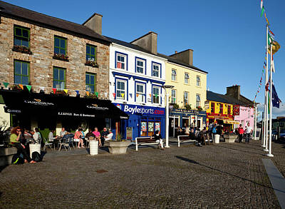 Connemara Photograph - Clifden Town Centre And Contemporary by Panoramic Images