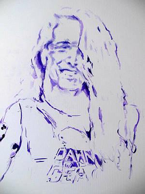 Metallica Painting - Cliff Burton Metallica by Lucia Hoogervorst