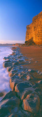 Cliff On The Beach, Burton Bradstock Print by Panoramic Images